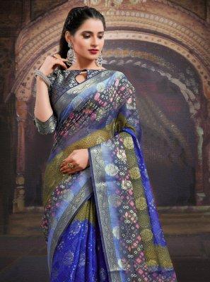 Fancy Fabric Festival Designer Saree