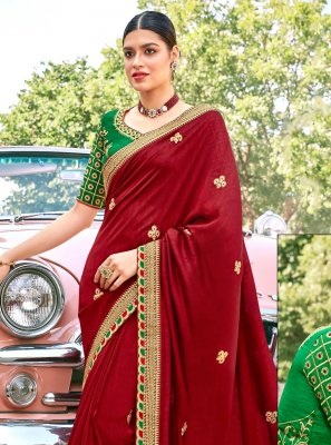 Fancy Fabric Festival Designer Traditional Saree