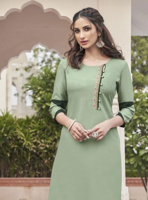 Fancy Fabric Festival Party Wear Kurti