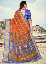 Fancy Fabric Festival Printed Saree