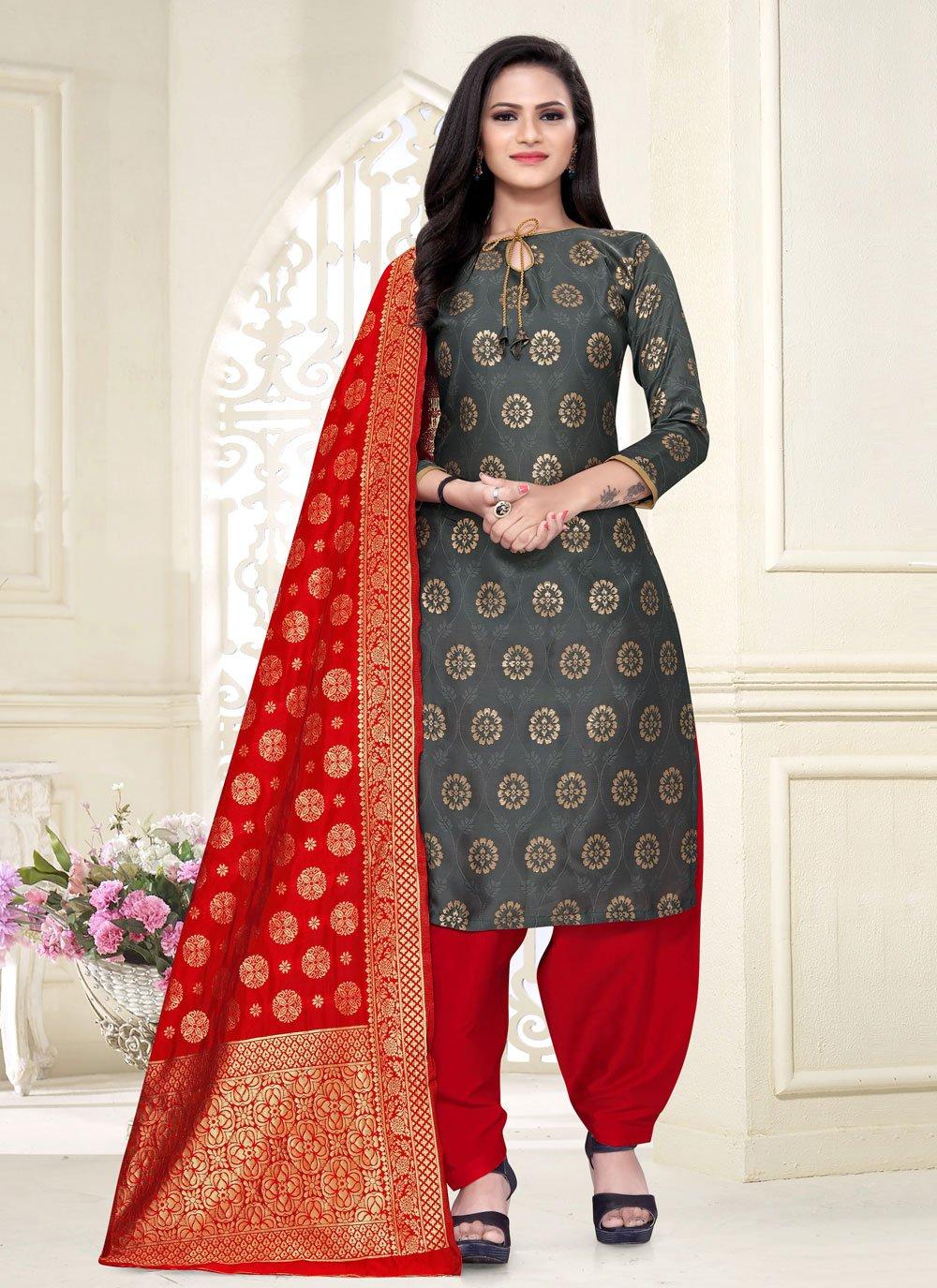 Fancy Fabric Festival Punjabi Suit