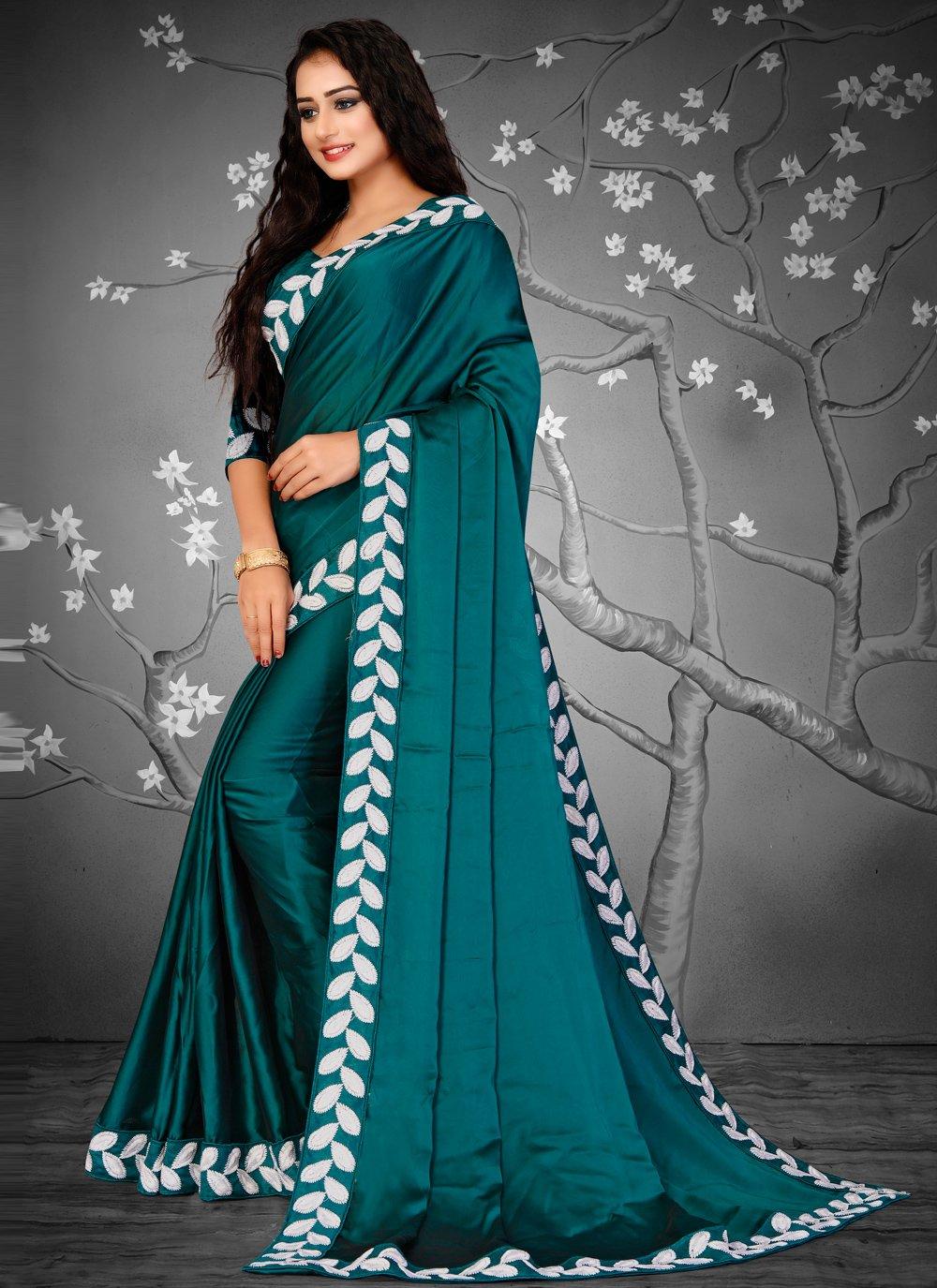Fancy Fabric Green Designer Traditional Saree