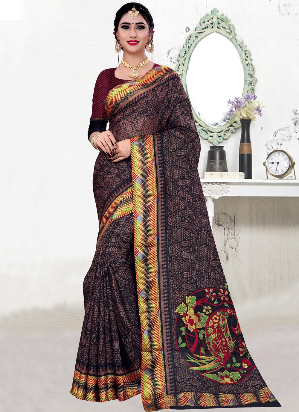 Fancy Fabric Party Contemporary Saree