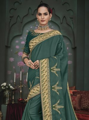 Fancy Fabric Patch Border Classic Designer Saree