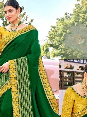 Fancy Fabric Patch Border Classic Designer Saree