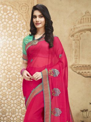Fancy Fabric Patch Border Designer Saree