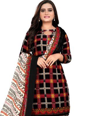 Fancy Fabric Printed Patiala Suit in Multi Colour