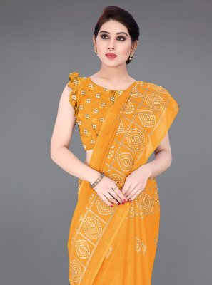Fancy Fabric Printed Printed Saree