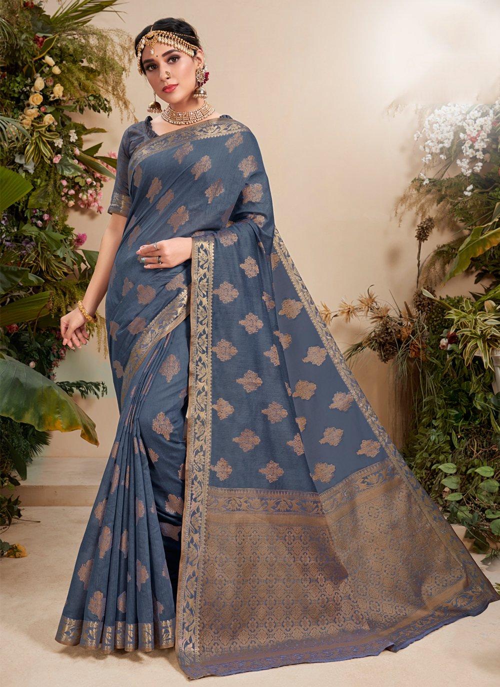 Fancy Fabric Resham Classic Designer Saree