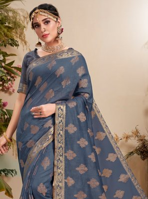 Fancy Fabric Resham Classic Designer Saree