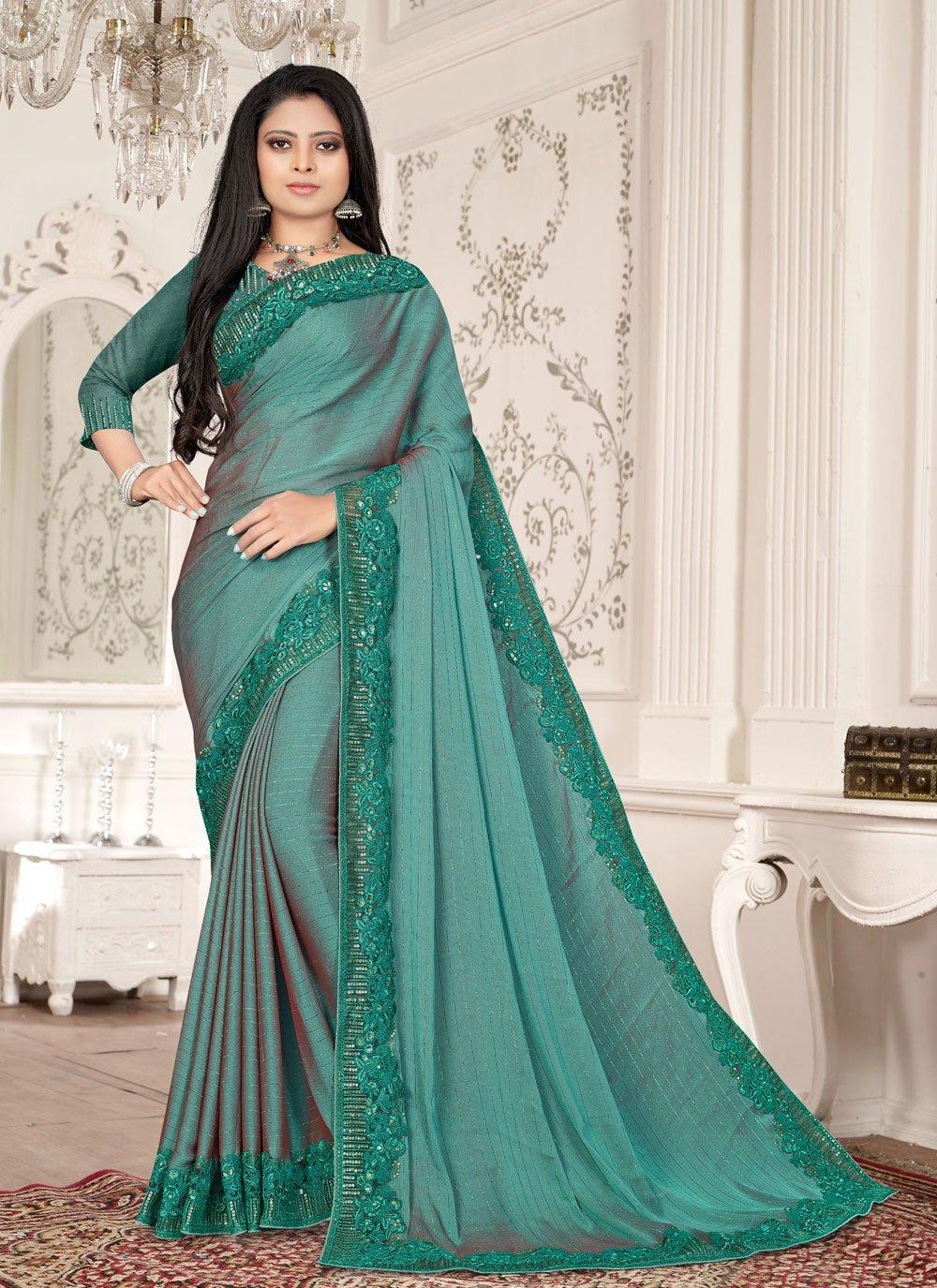 Fancy Fabric Resham Designer Saree