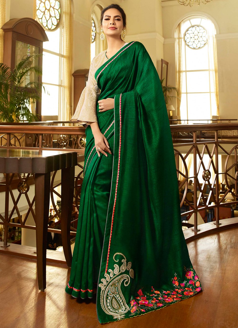 Fancy Fabric Trendy Saree