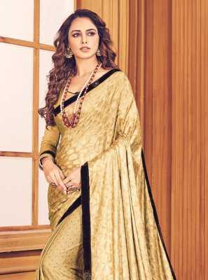 Fancy Fancy Fabric Beige Classic Designer Saree