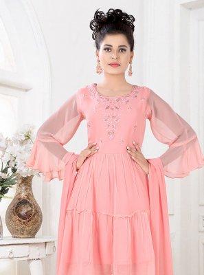 Fancy Faux Georgette Designer Palazzo Salwar Kameez