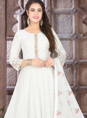 Fancy Floor Length Anarkali Suit