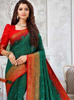 Fancy Green Designer Traditional Saree