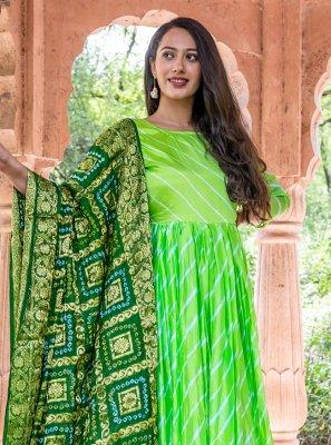 Fancy Green Readymade Suit