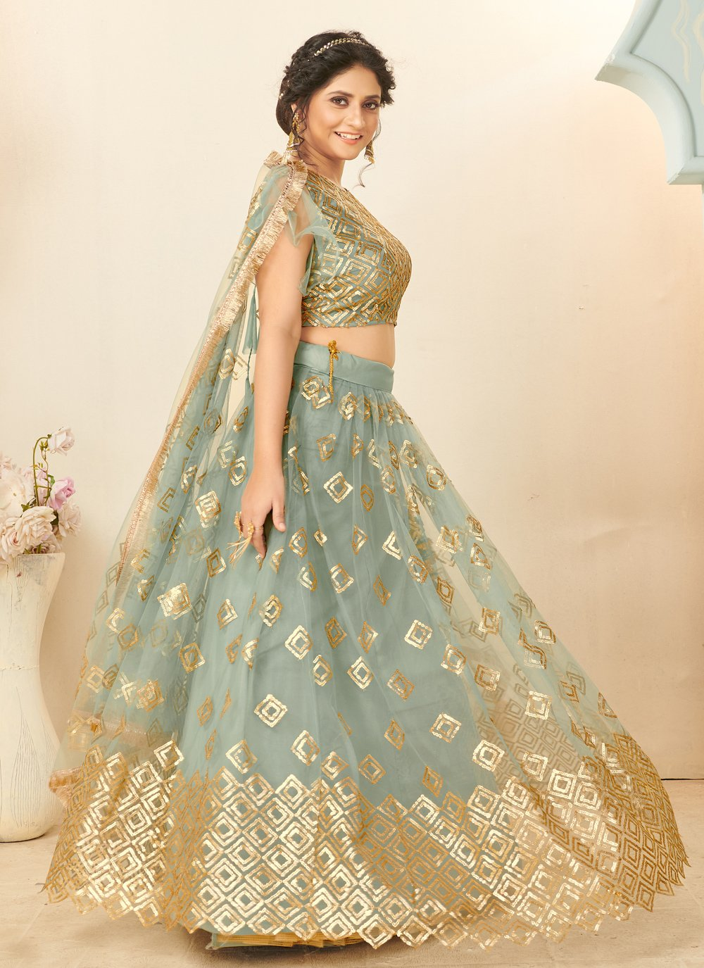 Fancy Grey Lehenga Choli