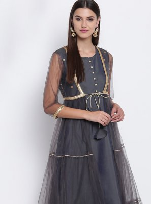 Fancy Grey Party Wear Kurti