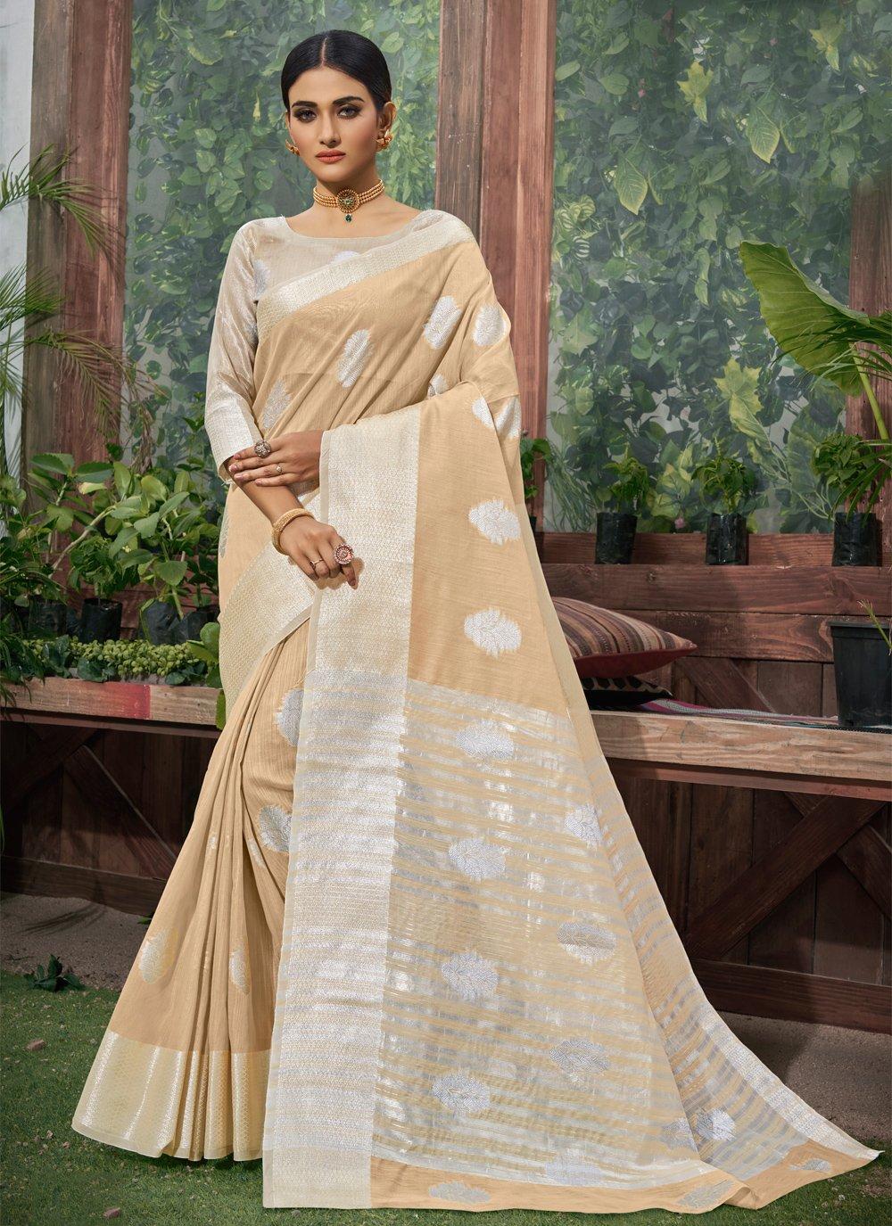Fancy Linen Trendy Saree