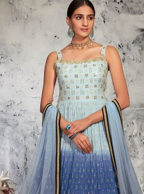 Fancy Lucknowi Floor Length Anarkali Suit