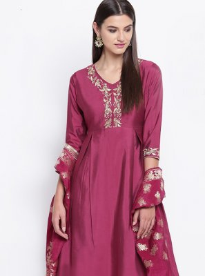 Fancy Magenta Party Wear Kurti
