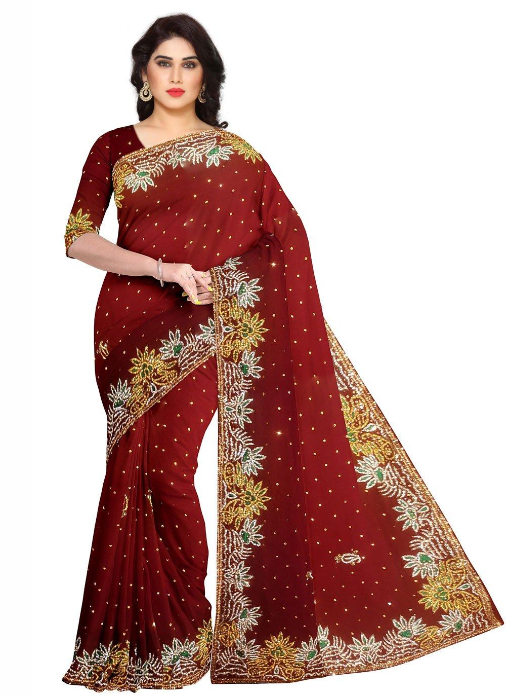 Fancy Mehndi Designer Saree
