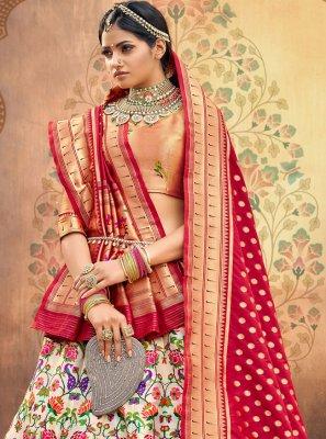 Fancy Multi Colour Silk Lehenga Choli