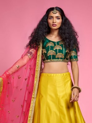 Fancy Mustard A Line Lehenga Choli