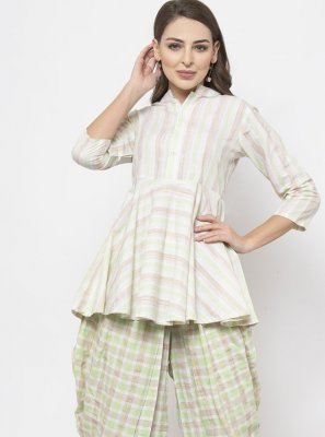 Fancy Off White Designer Kurti