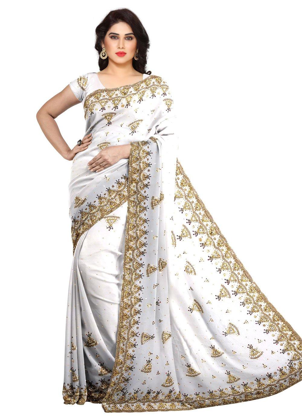 Fancy Off White Fancy Fabric Designer Saree