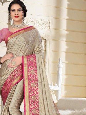 Fancy Pink Cotton Silk Traditional Saree