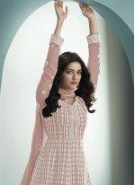 Fancy Pink Faux Georgette Floor Length Anarkali Suit