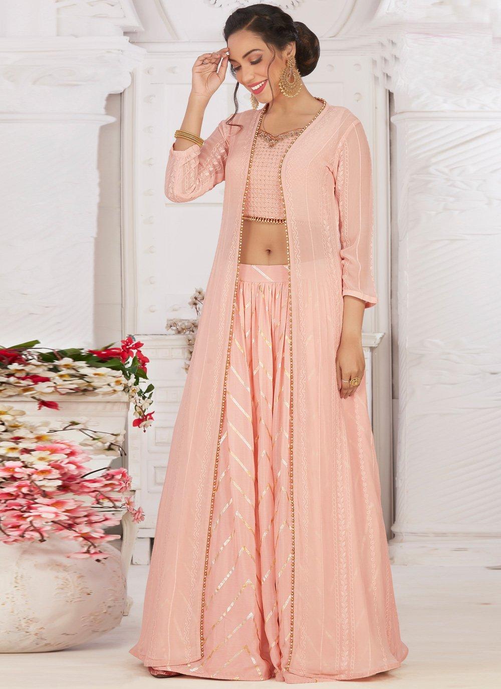 Fancy Pink Readymade Lehenga Choli