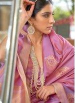 Fancy Purple Traditional Saree