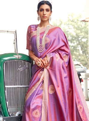 Fancy Purple Traditional Saree