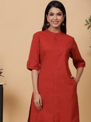 Fancy Red Designer Kurti