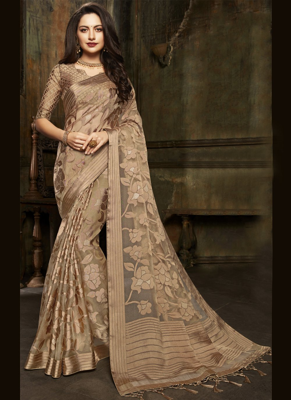 Fancy Sangeet Designer Saree