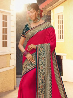 Fancy Satin Silk Designer Traditional Saree