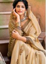 Faux Chiffon Casual Printed Saree