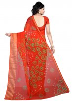 Faux Chiffon Ceremonial Printed Saree