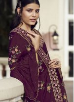 Faux Chiffon Designer Pakistani Salwar Suit