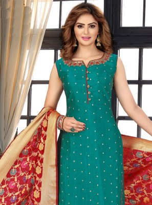 Faux Chiffon Fancy Designer Suit