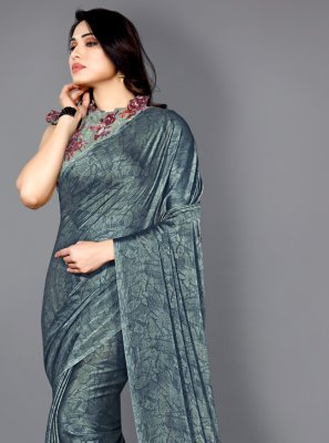 Faux Chiffon Green Traditional Saree