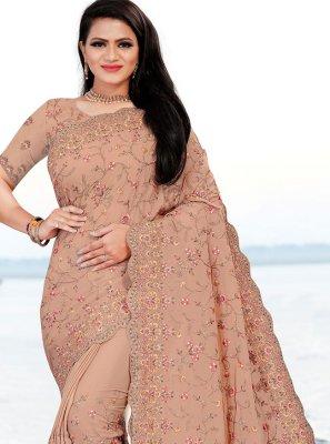 Faux Chiffon Mehndi Classic Saree