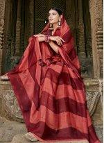Faux Chiffon Printed Multi Colour Contemporary Saree