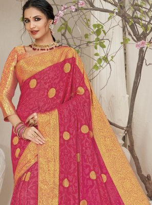Faux Chiffon Weaving Classic Saree
