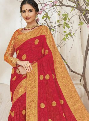 Faux Chiffon Weaving Designer Saree