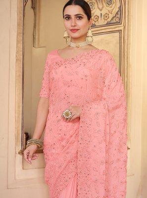 Faux Chiffon Wedding Classic Saree