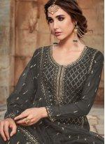 Faux Georgette Black Designer Pakistani Salwar Suit
